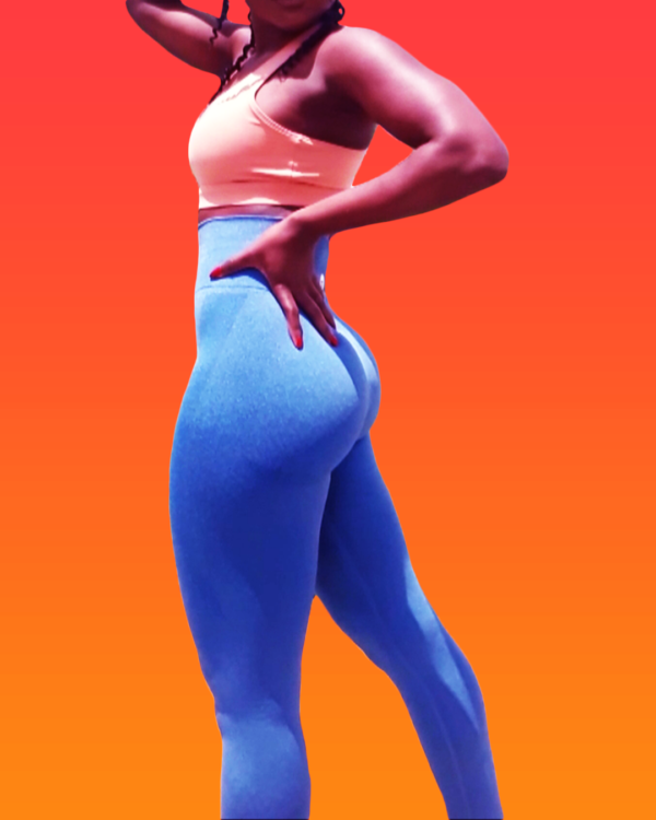 Blue Yoga workout pants for women